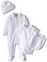 Armani Junior Five-Piece Gift Set: Body Suit, Footie, Big, Hat Bag Boy's Active Sets