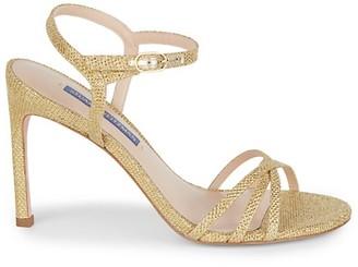 Stuart Weitzman Starla Goldtone Sparkle Stiletto Heels