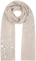 Yours Clothing YoursClothing Plus Size Womens Shawl Ladies Beige Foil Print Dragonfly Scarf