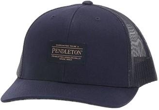 Pendleton Large Patch Trucker (Blue Original Surf Plaid) Baseball Caps
