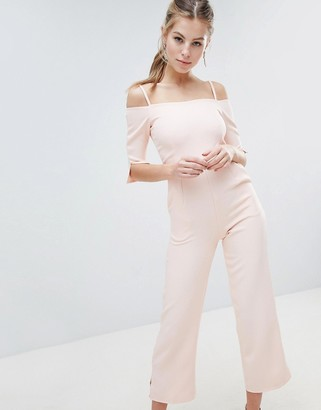 Oh My Love Bardot Tailored Jumpsuit