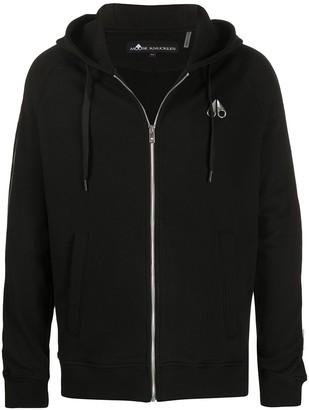 Moose Knuckles Zip-Through Hooded Sweatshirt