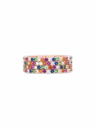Inspired By You Rainbow Cz Eternity Band