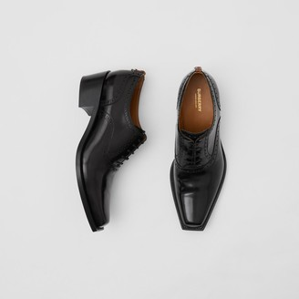 Burberry D-ring Detail Leather Heeled Oxford Brogues
