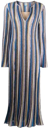M Missoni striped V-neck knitted dress
