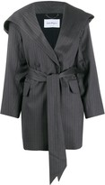 Thumbnail for your product : Salvatore Ferragamo Tie Waist Silk Coat