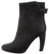 Tibi Textured Leather Ankle Boots