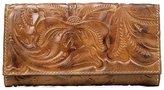 Patricia Nash Burnished Tooled Collection Floral-Embossed Terresa Wallet