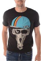 La Redoute Jack & Jones Mens T-Shirt With Printed Detail Black Size L