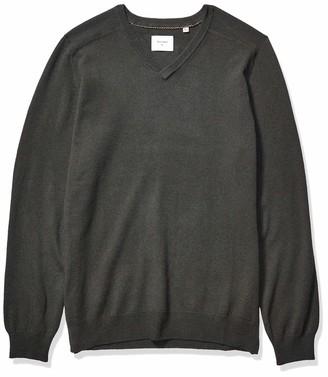 Billy Reid Men's Extrafine Merino Wool Cashmere Pullover V-Neck Sweater