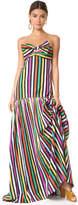 Caroline Constas Rainbow Stripe Gown