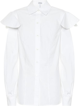 Loewe Capped-sleeve cotton shirt