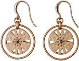 Pilgrim Women's Earrings Matte Gold Plated Crystal Round Cut – 211724113
