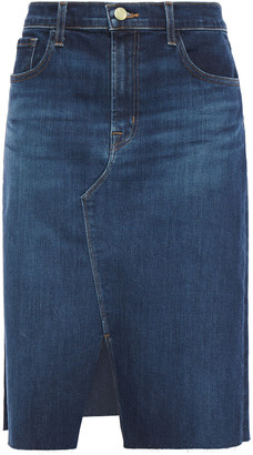 J Brand Trystan Frayed Denim Skirt