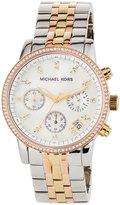 MICHAEL Michael Kors 36mm Ritz Glitz Tri-Tone Chronograph Watch