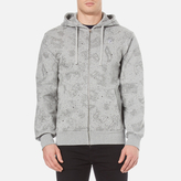 Billionaire Boys Club Men's Galaxy All Over Print Zipped Hoody Heather