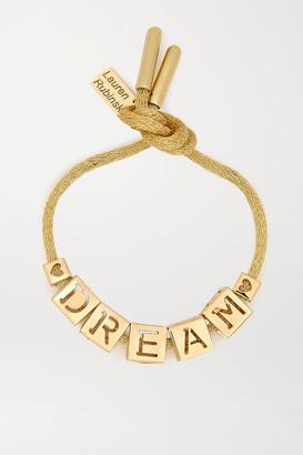 LAUREN RUBINSKI Dream 14-karat Gold Bracelet - one size