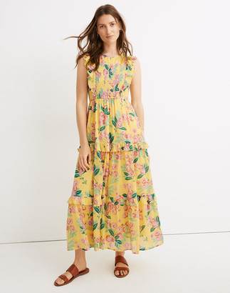 Madewell Banjanan Iris Smocked Midi Dress