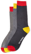 Ben Sherman 3-Pack Alfred Stripe Crew Socks