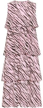 Baum und Pferdgarten Exclusive to Mytheresa Aija tiger-print midi dress