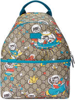 Gucci Kids Children's GG space cats backpack
