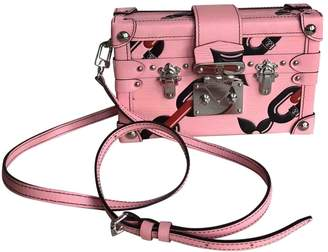 Louis Vuitton Petit Malle Pink Leather Handbags