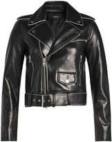 Theory Shrunken Leather Biker Jacket