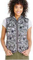 Joe Fresh Women's Floral Quilted Puffer Vest, Olive (Size XL)