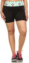 Simplicity Women Plus Size Bike Exercise Yoga Shorts