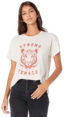 good hYOUman Brice Strong Female Tee (Oatmeal) Women's Clothing
