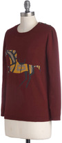 Dear Creatures New Gallop in Town Sweater