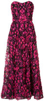 Marchesa floral embellished long dress - women - Nylon - 0