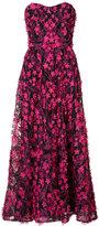 Marchesa floral embellished long dress - women - Polyester - 0