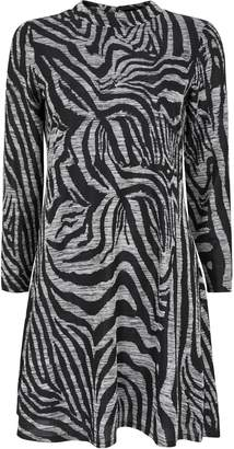 Wallis PETITE Grey Animal Print Shift Dress