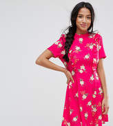 Asos Mini Tea Dress with Open Back and Frill