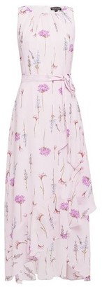 Dorothy Perkins Womens Billie & Blossom Purple Floral Print Lilac Stem Midaxi Dress, Purple
