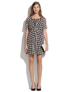 Madewell Silk houndstooth dress