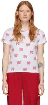COMME DES GARÇONS GIRL White Disney Edition All Over Ribbons T-Shirt