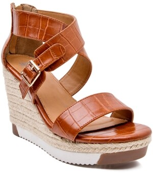 JANE AND THE SHOE Irma Platform Lug Sole Wedge Sandals Women's Shoes