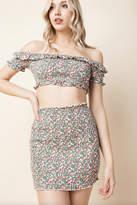 Honey Punch Smocked High-Waist Skirt