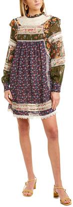 Farm Rio Liberty Silk-Blend Mini Dress
