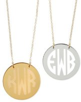 Moon and Lola Mirrored Acrylic Reverse Monogram Pendant Necklace