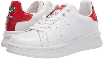 Marc Jacobs The Tennis Shoe (White/Red) Women's Shoes