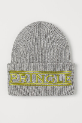 H&M Knit Hat with Embroidery