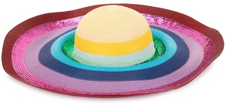 Mary Katrantzou Riviera wide brim sequin hat