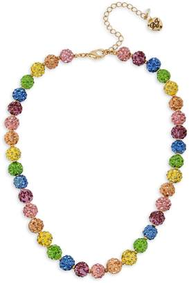 Betsey Johnson Goldtone Crystal Fireball Collar Necklace