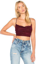 House Of Harlow X REVOLVE Booker Crop in Burgundy. - size L (also in M,S,XS)