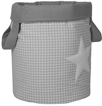 Camilla And Marc Funny Baby Vichy juguetero Padded 30 x 40 cm, Design Stars, Grey
