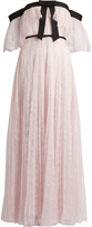 Giambattista Valli Off-the-shoulder pleated lace gown