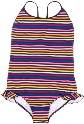 Sonia Rykiel Enfant TEEN scoop-back striped swimsuit